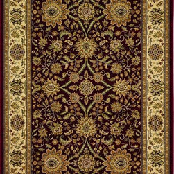 "828 - Greenville 2'3"" x 7'7"" Runner Traditional - Greenville 1-1005-05-Burgundy  2.3 x 7.7"