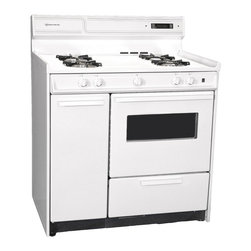 "Brown - 36"" Gas Range, Electric Ignition, Clock, Window - Features:"