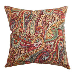 Pillow Collection - The Pillow Collection Wanda Paisley Pillow - Caribbean Multicolor - P18-20943-CA - Shop for Pillows from Hayneedle.com! Just like the wave of a magic wand-a The Pillow Collection Wanda Paisley Pillow - Caribbean adds an alluring enchantment to your home. Made of 95% high-quality cotton and 5% linen this durable square pillow features a plush 95/5 feather/down insert for softness and a lasting shape. The bright colorful paisley pattern breathes life into any design plan for a look that is much more than just an illusion.About The Pillow CollectionIdentical twin brothers Adam and Kyle started The Pillow Collection with a simple objective. They wanted to create an extensive selection of beautiful and affordable throw pillows. Their father is a renowned interior designer and they developed a deep appreciation of style from him. They hand select all fabrics to find the perfect cottons linens damasks and silks in a variety of colors patterns and designs. Standard features include hidden full-length zippers and luxurious high polyester fiber or down blended inserts. At The Pillow Collection they know that a throw pillow makes a room.