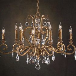 "John Richard 10 Light Chandelier AJC-8693 - 25.5""H X 32""W"