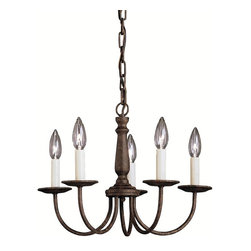 BUILDER - BUILDER Salem Traditional Chandeliers X-ZT0771 - A simple design with warm finishes, this Kichler Lighting chandelier is a great way to add light to a room without detracting from the decor of the space. From the Salem Collection, it features five candelabra lights complete with light toned candle sleeves for a more authentic look. A rich Tannery Bronze finish highlights the simple design and subtle but elegant details, completing the look.