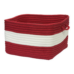 "Colonial Mills, Inc. - Rope Walk, Red Utility Basket, 14""X10"" - Made in an old New England mill town, these 100 percent polypropylene baskets are an ideal storage option for any room. Pretty and oh-so-practical, they're tough enough to take on anything you toss in them, from logs to toys to pool towels."