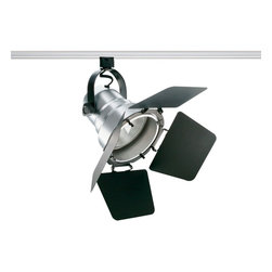 Juno Lighting - Trac-Master T296 Studio II PAR38 Track Light with Barn Doors - Add theatrical styling to lighting applications. Striking finishes and innovativeproduct details make the Studio II an important design element and an effectivelighting product.