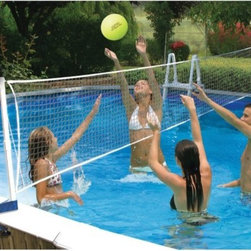 Poolmaster - Poolside Vb Bracket Mount - The above ground poolside volleyball game-bracket mount from poolmaster fits across 24' above ground round pools.