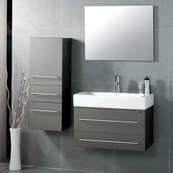 "Mist - Modern Bathroom Vanity Set 29"" - The Mist is a modern bathroom vanity set that embraces the latest trend in luxury modern bathroom design."