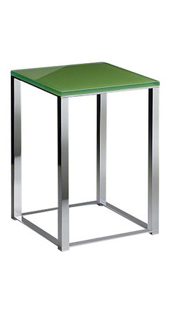 Windisch - Bathroom Stool with Green Glass Top - Contemporary style stool with pistachio glass top.