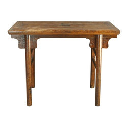 EuroLux Home - Consigned Antique Chinese Wine Table Accent Hall Table - Product Details