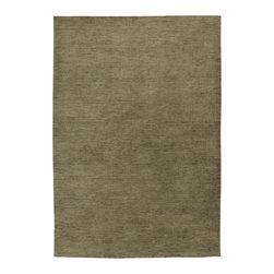 """Couristan - Mystique Aura/Bay Leaf Rug - These captivating, modern-day handmade treasures for the home have been designed to inspire your decorating flavors and provide you with the options you'll need to design that certain environment in your home that represents individuality. The Mystique Collection by Couristan, offers a full-range of brilliant colors that are softly blended against a beautifully textured European wool surface. Rendering a clean, warm textured appearance, each area rug in this loomed-knotted collection reflects simplicity and is enhanced by a palette that features some of today's most desired colors in the home furnishings industry. Enhanced with a beautiful luster wash and velvety soft hand, Mystique's pile provides an inviting fashion statement for the floor without overstating its value and offers an affordable and practical decorating solution for those rooms needing a touch of rustic charm or a spice of color. Features: -Technique: Loom-knotted.-Material: 100% imported wool pile.-Beautiful luster wash to enhance rug's velvety soft hand.-Construction: Handmade.-Cut and Loop Pile Construction Adds Dimension.-Primary Color: Bay Leaf.-Secondary Color: Black.-Distressed: No.-Collection: Mystique.-Construction: Hand-Made.-Technique: Loom-Knotted.-Primary Pattern: Solid.-Primary Color: Bay Leaf.-Border Material: European Wool.-Border Color: Bay Leaf.-Material: European Wool.-Fringe: No.-Reversible: No.-Rug Pad Needed: Yes.-Water Repellent: No.-Mildew Resistant: No.-Stain Resistant: No.-Fade Resistant: No.-Swatch Available: No.-Eco-Friendly: No.-Outdoor Use: No.-Product Care: Vacuum frequently. Have professionally cleaned when needed..Specifications: -CRI certified: No.-Goodweave certified: No.Dimensions: -Pile Height: 0.35"""".-Overall Product Weight (Rug Size: 2' x 3'): 5 lbs.-Overall Product Weight (Rug Size: 2'6"""" x 4'2""""): 11 lbs.-Overall Product Weight (Rug Size: 3'5"""" x 5'5""""): 13 lbs.-Overall Product Weight (Rug Size: 4'10"""" x 7'10""""): 24 lbs.-Over"""