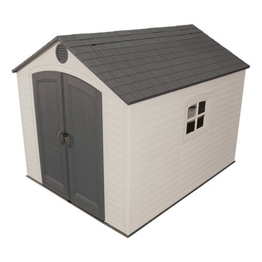 Lifetime - Lifetime Outdoor Storage Shed (8' x 10') - Lifetime storage shed is your solution to storage problemsOutdoor shed provides ample space for gardening equipment with shelving units and peg stripsShed is UV-protected from fading and cracking