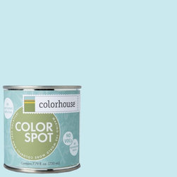 ColorSpot Eggshell Interior Paint Sample, Dream .01, 8-oz - Test color before you paint with the Colorhouse Colorspot 8-oz  paint sample. Made with real paint and in our most popular eggshell finish, Colorhouse paints are 100% acrylic with NO VOCs (volatile organic compounds), NO toxic fumes/HAPs-free, NO reproductive toxins, and NO chemical solvents. Our artist-crafted colors are designed to be easy backdrops for living.