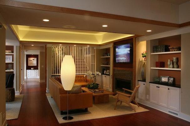 Traditional Living Room by Sarah Susanka, FAIA