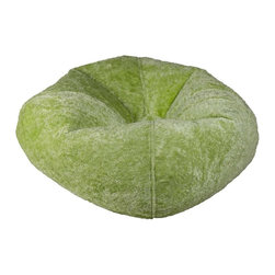 ABC Lifestyle - Lime Chenille Bean Bag - Durable chenille fabric and double stitched seams for durablility. Ergonomic seating position. Great for reading, playing video games, watching TV, relaxing. Overall Dimensions: 32 in. L x 30 in. W x 13 in. H.