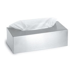 Blomus - Nexio Stainless Steel Tissue Box - For standard size tissue. Made of stainless steel. 1-Year manufacturer's defect warranty. 9.48 in. L x 4.94 in. W x 3.16 in. H