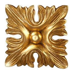 uDecor - GF-2045s Ornamental - For anyone looking for an elegant way to adorn your home or business, our gold foil products are the perfect way to achieve your desired look. Made out of polyurethane and then coated with 18k gold foil, these products are sure to leave your family and clients impressed.  Made from dense polyurethane
