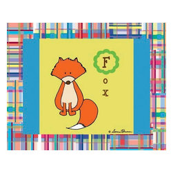 Oh How Cute Kids by Serena Bowman - Animal Alphabet - Fox, Ready To Hang Canvas Kid's Wall Decor, 20 X 24 - Every kid is unique and special in their own way so why shouldn't their wall decor be so as well! With our extensive selection of canvas wall art for kids, from princesses to spaceships and cowboys to travel girls, we'll help you find that perfect piece for your special one.  Or fill the entire room with our imaginative art, every canvas is part of a coordinating series, an easy way to provide a complete and unified look for any room.