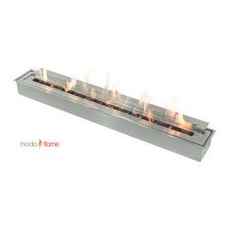 "Moda Flame - Moda Flame Indoor Outdoor Long Bio Ethanol Fireplace Burner Insert - Moda Flame Indoor Outdoor Long Bio Ethanol Fireplace Burner Insert This Moda Flame Ethanol Burner Insert is designed with style and functionality, whether you're looking to add a fire outdoors or indoors this 39"" ethanol burner will occasion to life all year round. Burner Insert (1)"