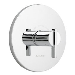 """American Standard - American Standard T430.730.002 Berwick Central Thermostat Trim Kit, Chrome - American Standard T430.730.002 Berwick Central Thermostat Trim Kit, Polished Chrome. This Valve Trim features 1 handle which sets the desired temperature, hot limit safety stop, available with 1/2"""" or 3/4"""" NPT inlets and outlets, escutcheon plate is a stamped brass, Temperature is maintained by a wax element moving a shuttle valve between hot and cold"""
