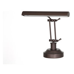 Cocoweb, Inc. - Cocoweb Mahogany Bronze LED Piano / Desk Lamp - Our brand new eco-friendly Cocoweb LED piano/desk lamp is designed for multi-functioning purposes. It can be used as a reading lamp, a piano lamp, a night light, or a general purpose desk lamp with multiple levels of brightness. This lamp has a high quality durable stainless steel body and the brushed satin nickel finish is just goregous.  The lamp is also available in oil rubbed bronze, mahogany bronze and antique brass finishes. The lamp is adjustable at two-points,  allowing for versatility of use.