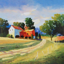 Paragon Decor - Down on the Farm Artwork - Gicl�ee on canvas is wrapped around wood stretcher bars with gallery style wrap.