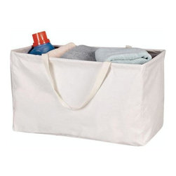 Home Decorators Collection - Canvas Rectangular Krush Container - This convenient laundry storage piece is perfect for carrying a few loads of laundry from your bedroom, dorm or apartment to your laundry area. Its unique design allows you to collapse this container for easy storage and then re-form it when in use. Order yours today. Durable canvas bag with water-resistant liner. Comfortable handles offer added convenience.