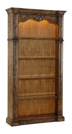 Ambella Home - Reading Bookcase - Finally, here is a bookcase worthy of your law books, business bestsellers or other favorite tomes. Or you could use it for your decorative collectibles. Either way, the three adjustable, wood-framed glass shelves are ready for whatever you deem display worthy.