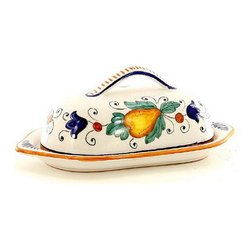 Artistica - Hand Made in Italy - Fruttina: Butter Dish with Cover - Fruttina Collection