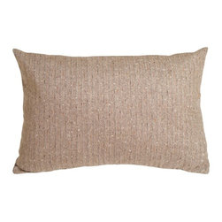 Pillow Decor - Pillow Decor - Herringbone Brown Rectangular Decorative Toss Pillow - With a classic herringbone pattern, this pillow is warm and inviting. The herringbone pattern is emphasized by an alternating light brown and off-white weave and is accented by threads in orange, brown and metallic gold.