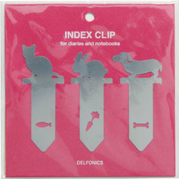 Delfonics For Top Hat Index Marking Clips - These cute little clips can keep any desk in order and any stray papers organized. They are from the Japanese label Delfonics, and the little shapes are simply adorable.