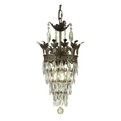 AF Lighting - AF Lighting Elements Sovereign Mini Chandelier -