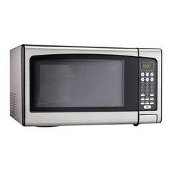 Danby - 1.1 Cu.Ft. Microwave-Stainless Steel - -Spacious 1.1 cu. ft. capacity microwave