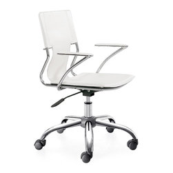 Lemoderno - Elegant Conference Office Chair By Lemoderno, White - The Elegant Office Chair offers unique design and comfort all in one package, making it a must-have for your contemporary office. Elegant Office Chair looks great in the modern office or home based workstation. This contemporary chair is perfect for any office environment. This item is a high quality reproduction of the original.