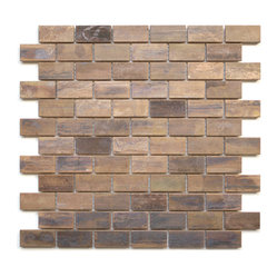 Medium Brick Antique Copper Mosaic Tile