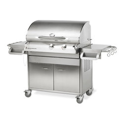 Frontgate - 36-inch Stainless Steel Cook Number Grill on Cart - Convection technology. Grills, sears, roasts, and bakes. Built-in temperature probe beeps when food reaches desired temperature. With our simple shifting system, switch from grilling to searing instantly. 10 precision Cook Number settings for fish, pork, poultry, and beef, cooked to your specifications. Take the guesswork out of grilling with our Stainless Steel Cook Number Grills, and let Cook Number technology turn you into a gourmet griller overnight. You'll be cooking on a thermodynamically efficient grill that saves gas, money, and the planet as it cuts back on carbon emissions without cutting back on your favorite grilled foods. . . . . . Restaurant-quality 18-gauge, 304 stainless steel. More features of the Cook Number Grills. Grills are equipped for use with propane gas. Convert to natural gas with conversion kit, sold separately. More questions? Refer to our Cook Number Grill Q&A.