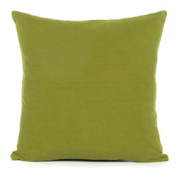 "Blooming Home Decor - Solid Olive Green Accent / Throw Pillow Cover - (Available in 16""x16"", 18""x18"", 20""x20"", 24""x24"", 26""x26"", 12""x20"", 20""x54"")"