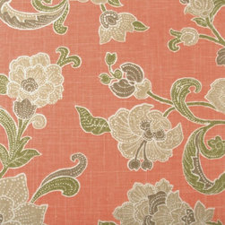 Jacobean - Salmon Upholstery Fabric - Item #1012305-123.