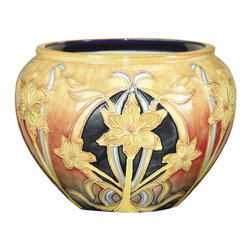 Dale Tiffany - Dale Tiffany Pa500199 Pasque Flower Porcelain Pot - Dale Tiffany PA500199 Pasque Flower Porcelain Pot