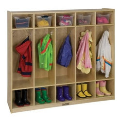 ECR4KIDS 5 Section Coat Locker - Birch - About Early Childhood ResourcesEarly Childhood Resources is a wholesale manufacturer of early childhood and educational products. It is committed to developing and distributing only the highest-quality products, ensuring that these products represent the maximum value in the marketplace. Combining its responsibility to the community and its desire to be environmentally conscious, Early Childhood Resources has eliminated almost all of its cardboard waste by implementing commercial Cardboard Shredding equipment in its facilities. You can be assured of maximum value with Early Childhood Resources.
