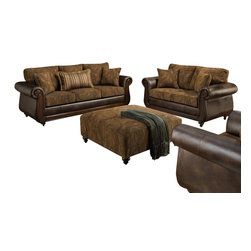 Chelsea Home Furniture - Chelsea Home Oneida 3-Piece Living Room Set in Isle Tobacco - Kiser Cappuccino - Oneida 3 Piece Living Room Set in Isle Tobacco - Kiser Cappuccino belongs to the Chelsea Home Furniture collection .