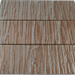 GlassTileStore - Terrene Blush 4x12 Glass Tile - TERRENE BLUSH 4X12 GLASS TILE  This striking blush/bronze glass can make any room atheistically appealing. The wavy finish brings a distinctive design and will add a nice touch for a contemporary and modern room. This tile is great to use for the bathroom, kitchen or pool installation.      Chip Size: 4x12   Material: Glass   Color: Blush/Bronze   Finish: Metallic Wavy   Sold by the Square Foot- 3 Pieces Per Square Foot    - Glass Tiles -