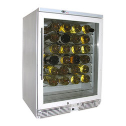 Vinotemp - Vinotemp - 58-Bottle Wine Cooler (White) - Vinotemp's 58 bottle models are highly rated and some of our most popular units. This unit is perfect for the kitchen, bar or dining area. It is not suggested to be place in the garage due to volatile external temperature ranges.