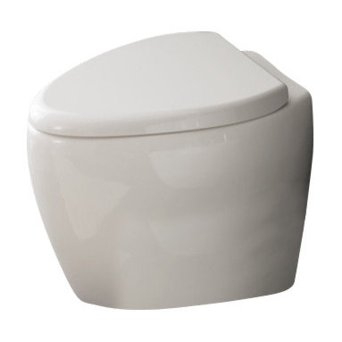Scarabeo - Round Floor Standing Ceramic Toilet - If you need a toilet, why not consider this high-end toilet from the Scarabeo Moai collection? Perfect for more modern settings, this high-end toilet is floor standing and coated with white.