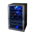 NewAir - NewAir Wine Cooler AW-281E 28 Bottle - Talk about the big chill. This thermoelectric wine cooler keeps 28 of your best bottles at ideal serving temperature and operates quietly without excess vibration.