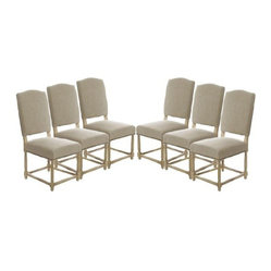 Empire Parsons Upholstered Side Chair Dining Chair, Set of 6