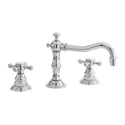 """Newport Brass - Newport Brass 930/26 Polished Chrome CHESTERFIELD Chesterfield Double - Chesterfield Double Handle Low Lead Widespread Lavatory Faucet with Metal Cross HandlesThe Newport Brass Chesterfield Collection features traditional styling that will bring a feel of classic decor to your home. The Chesterfield Collection from Newport Brass is a complete suite, offering sink faucets, shower faucets, roman tub fillers and accessories. Newport Brass lavatory faucets are available in several different styles with 25 unique finish options. You will see why Newport Brass boasts Flawless Beauty from Faucet to FinishFeatures:Double handle lavatory faucetADA Compliant Cross HandlesBrass Valve Bodies. Valve Included.Quarter-turn washerless ceramic disc valve cartridgesPop-up drain with tail pieceMetal cross handlesCA/VT Low lead compliantWaterSense CertifiedSolid brassReadyship Available Finishes - Finishes guaranteed to be in stock by Newport BrassForever BrassAntique BrassAntique NickelEnglish BronzeOil Rubbed BronzePolished NickelSatin NickelPolished ChromeFinish Features:Available in 25 beautiful finishesNew Industry Leading lacquer Finish ProcessIAPMO Certified and testedLong Life Finishes - 10 Year WarrantyDurable, color protected, scratch resistantGreen, low VOC, energy efficient finishing processSpecifications:Spout Reach: 6-15/16""""Spout Height: 3-15/16""""Handle Height: 2-7/8""""8"""" Centers"""