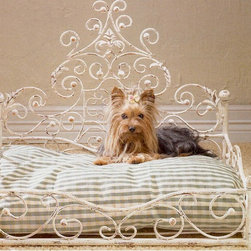 Antique Scroll Pet Bed - If you have a pet princess in your home, this bed is well suited. The wrought iron scrolls have a traditional look and will make your dog feel like royalty.