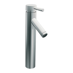 Moen - Moen 6111 Level Single Handle Low Arc Vessel Bathroom Faucet - The Level series features a modern, sleek design and refined style that transcends seemlessly to the modern home. The Level collection stands apart with it's clean, geometric lines.
