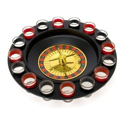 Shot Glass Roulette - Drinking Game Set (Comes With 2 Balls and 16 Shot Glasses) - Give it a spin and let the wheel determine your fate