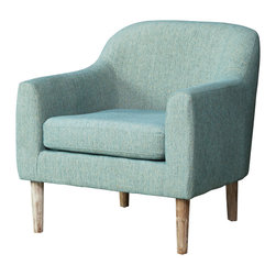 Great Deal Furniture - Bellview Fabric Retro Chair, Teal - Add some retro vibes to any space with the Bellview Accent Chair. This piece is designed with style in mind. The color, and texture gives this chair a unique overall look and the curved back and armrests provide great comfort. If you're looking for comfort and style, the Bellview is your chair.