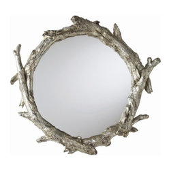 Oakley Mirror - The silver finish of this nature-inspired mirror means it will work with a range of styles, from slick modern to organic and earthy.