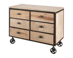 Jean 6 Drawer Dresser - Product Features: